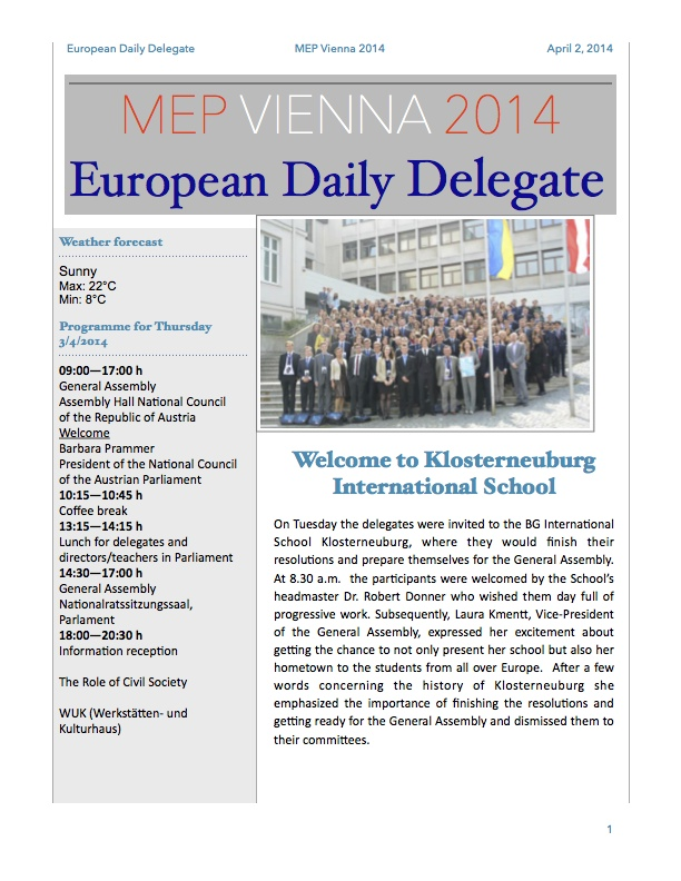 The European Daily Delegate (Issue 2)