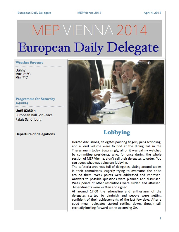 The European Daily Delegate (Issue 3)